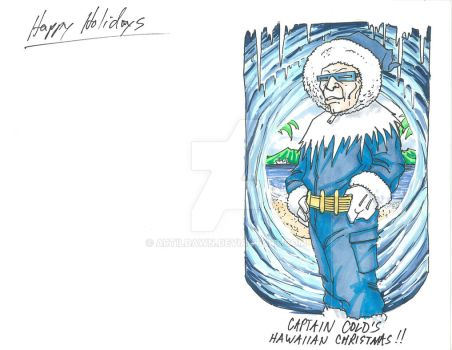 2017 Holiday Cards - Capt Cold by artildawn