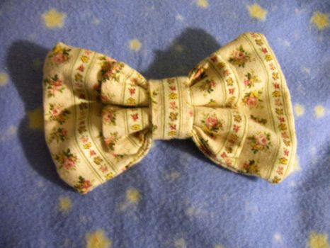 Flowers and Stripes Headbow 2 by SweetBeeps
