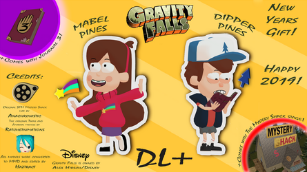 [MMD] Gravity Falls Pack DL+ (New Years Gift!) by Haztract