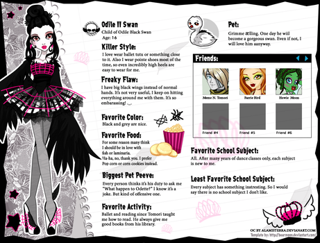 Monster High - Odile II Swan by alamisterra