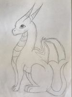 Dragon sketch by Captain-Zeko