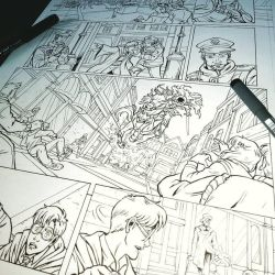 Puck 2 - page 11 inks wip by giulal