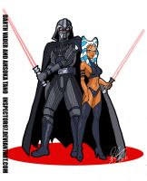 Darth Vader and Ahsoka Tano by Inspector97