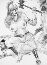 13 Amazons-Queen Penthesilea's Vicious Axe by chewjfsh