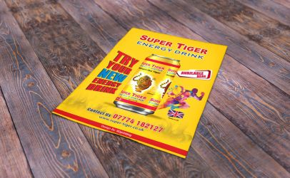 Super Tiger A4 Flyer by abuebrahim95