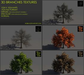 Free 3D branches textures 04 by Yughues