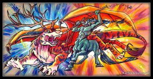 Astral Battle by KatCardy