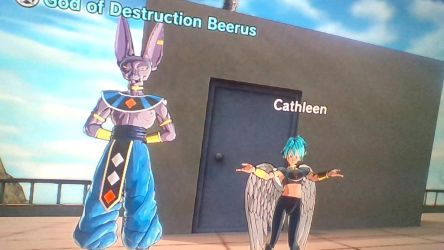 Beerus and Cathleen by CatCamellia