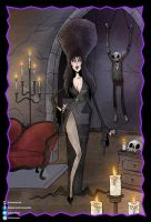 Elvira, Mistress of the Dark by chrisraimoart