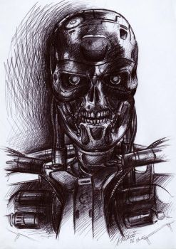 Terminator Final Sketch by SolidAlexei