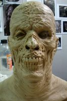 zombie head prosthetic by leighmarsh