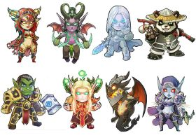 Warcraft Stickers by Novanim