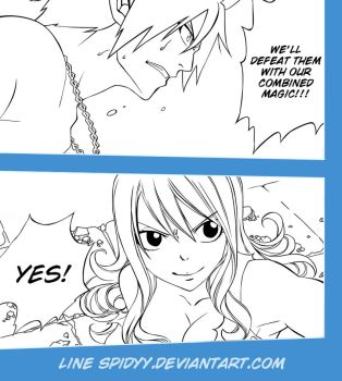 Line Art Fairy tail 321 by spidyy