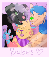 YCH | Squad Selfie! | For KorgiKardigan by FreckledBastard