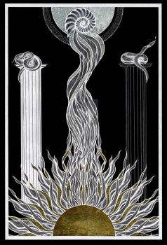 conjunction Tarot Back by InaAuderieth