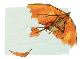 Autumn Mouse Glider by Quezzie