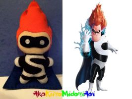 Incredibles Plushes: Syndrome by AkaKiiroMidoriAoi