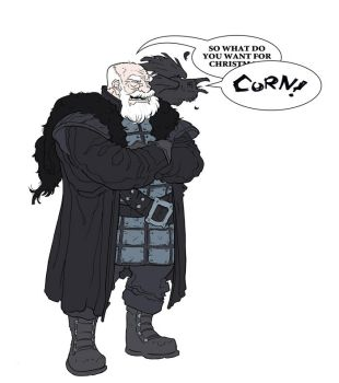 2011 Christmas Card - Jeor Mormont by jdeberge