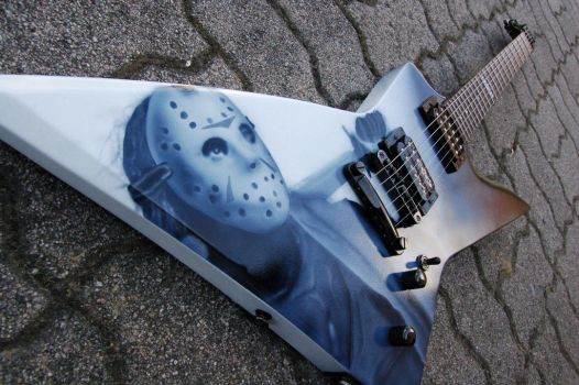 Jason  Guitar airbrush by BassTardArt