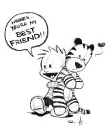 calvin and hobbes bff by tabby-like-a-cat