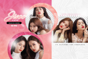 JISOO Y ROSE PNG PACK#1/BLACKPINK/CECI by Upwishcolorssx