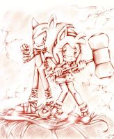 Sonic Boom - Sonic and Amy by Corimii