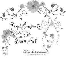Floral Ornamental Brush Set by Lileya
