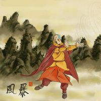 Aang alone by AnkeLive