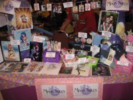 My Table at A-KON 2009 by Sirenz