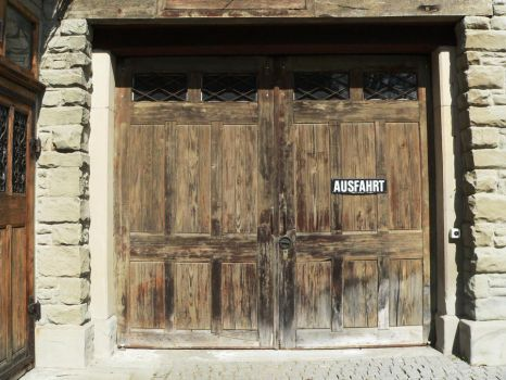 old wooden door by clandestine-stock