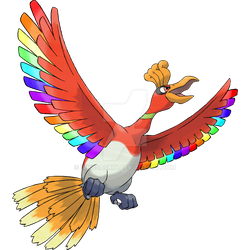 Rainbow Feathered Ho-Oh by whosaskin
