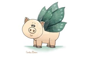 Triple Wings Piggy by VioletDolphin