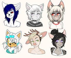 April Bust Commissions by faenatical