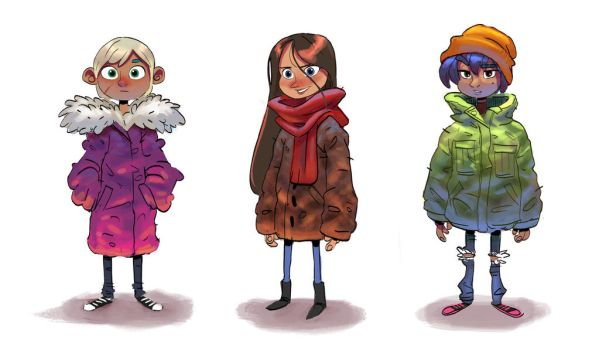 Girls and Coats by DaveJorel