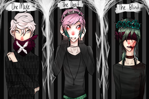 The Mute, The Deaf, The Blind by MythsandMonsters