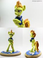 :Commission: WonderBolts Academy Spitfire by dustysculptures