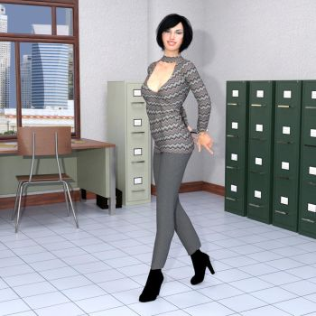 R-World:  Office Lady Julia by DonKevinMartin