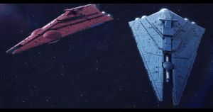 Imperator-II Star Destroyers Basilisk and Chimaera by Shoguneagle