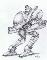 Robot Concept 2 final by catzav3ncu