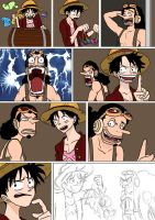 One Piece - Days At Sea 03 WIP by Imbriaart