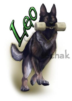 Black Sable GSD, Commission by KeechakVarg