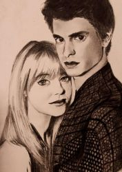 Peter Parker and Gwen Stacy by Lalalelilolu