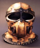 Steampunk Helmet Front View by TomBanwell