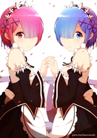Ram and Rem by Musu-chann