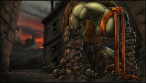 *MICHELANGELO* goodbye, my brothers... by DeadPea