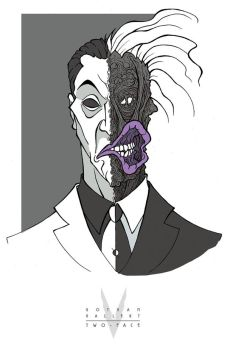 Gotham Gallery: Two-Face by MurderousAutomaton