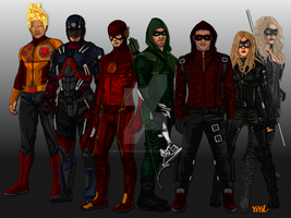 Justice League Arrowverse by IronAvenger1234
