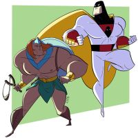 Zandor and Space Ghost by VirtualBarata