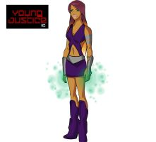 starfire young justice by slimsassysarah