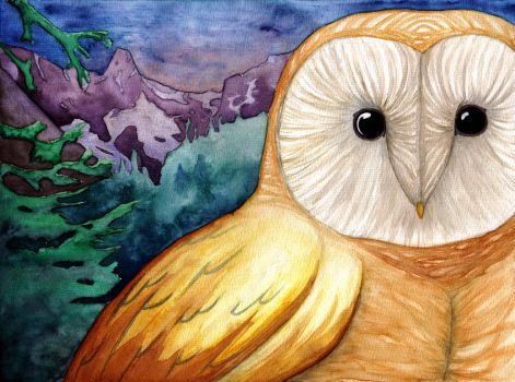 Owls Forest by EarthEvolution